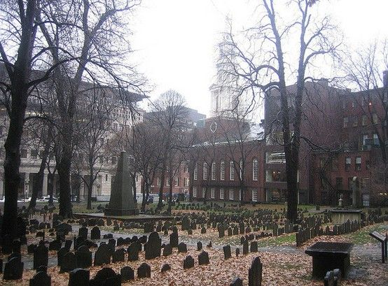 The Old Granary Burial Ground dating back to the 1660's is Boston's second oldest cemetery. It contains the remains of many Revolutionary heroes. Here you'll find the graves of John Hancock, Samuel Adams, Thomas Paine, and of course the grave site of Paul Revere. Benjamin Franklin's parents are buried here and so is Mother Goose.: