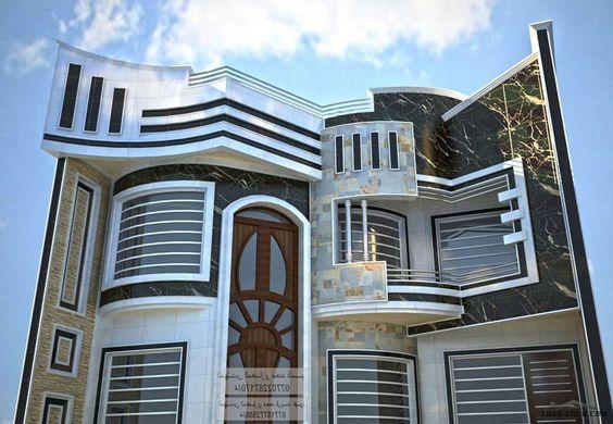 واجهات بيوت العراق مكتب المهندس المعماري محمد فريد عبود Classic House Design Modern House Plans House Front Design