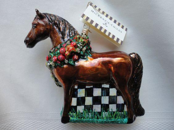 Glass Horse Ornament