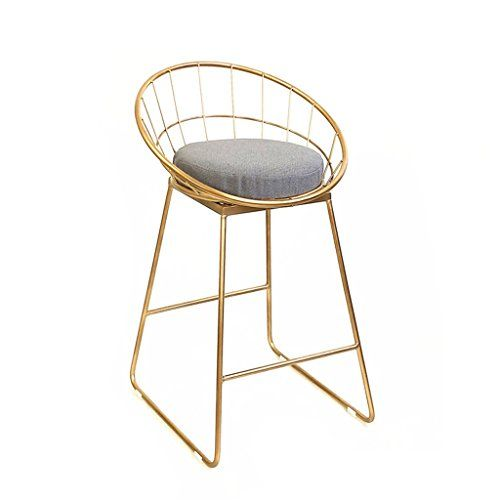 Yxyh Stool Bar High Chair Modern Minimalist Home Chair Nordic Iron Cafe Dessert Shop Back Hollow Three Two C Retro Bar Stools Upholstered Bar Stools Bar Stools