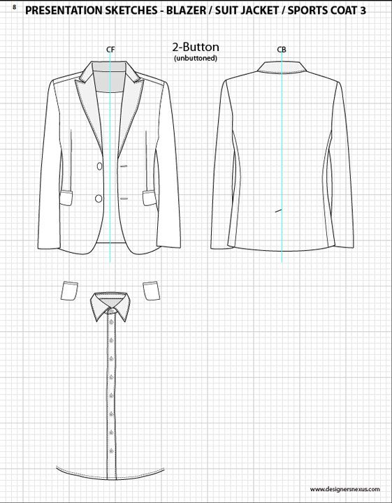 Fashion illustration templates men.