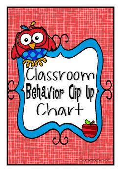 Owl Theme Classroom Clip up Chart