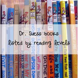 Dr. Seuss books listed by reading level