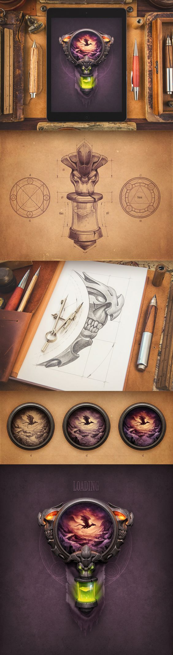 Dribbble - loading_-_rpg_game.jpg by Mike | Creative Mints