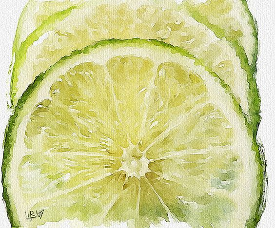 Vitaly Shchukin (piker77)              DIGITAL WATERCOLOR  Lime: