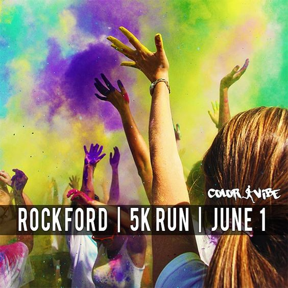 Rockford Color Vibe 5k -- excited to do this! Woo Hoo! Something new before I turn 40…thats' the goal!