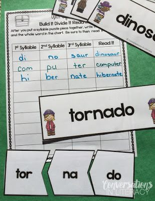 Build Fluency with Multisyllabic Word Study- open syllables word puzzles$ & activities