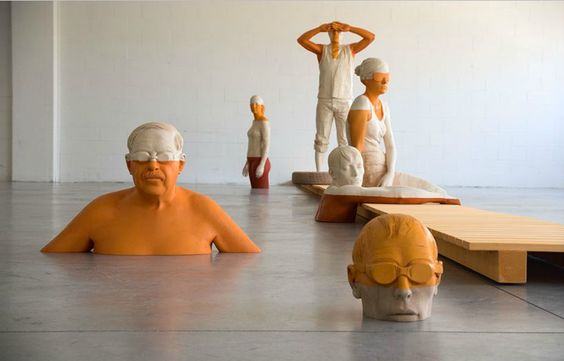 Italian woodcarver Willy Verginer's sculptures