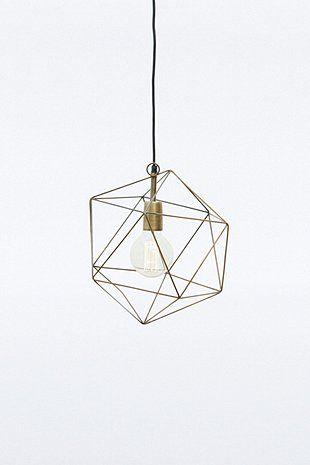 Lampenschirm aus Messing in geometrischem Design