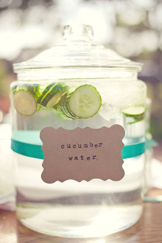 Cucumber water is a great alternative to regular water. Cucumbers make the water so much more refreshing!
