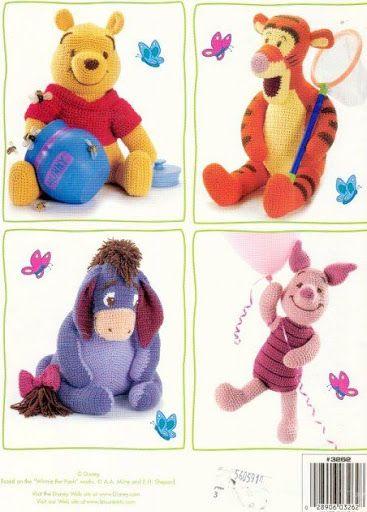 Amigurumi Disney Tutorial : Amigurumi Winnie the Pooh and Friends - FREE Crochet ...