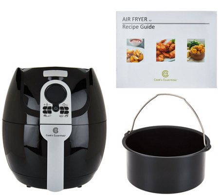 CooksEssentials 3qt Digital Air Fryer w/ Presets & Pan: