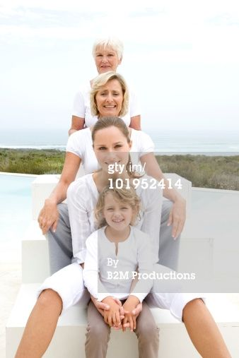 High-Res Stock Photography: Four generations of women portrait