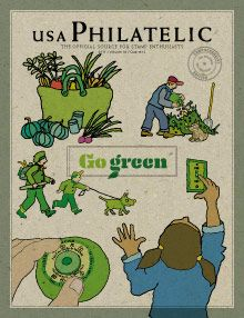 Selos Postais Verdes -EUA