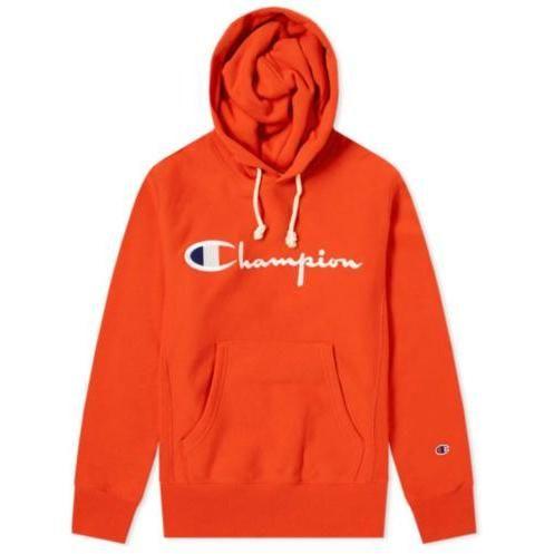 Burnt Orange Champion Reverse Weave Logo Script Hoodie
