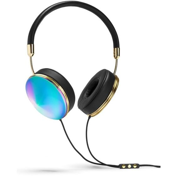 Frends Taylor Oil Slick Headphones ($200) ❤ liked on Polyvore featuring accessories, tech accessories, electronics, filler, gadgets, headphones, black multi, apple iphone headphones, frends headphones and iphone headphones