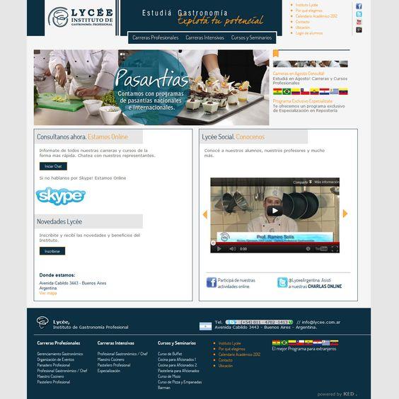 Lyceé - Sitio Web Dinámico.