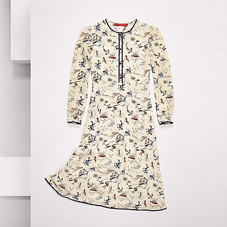 Image for HILFIGER COLLECTION SILK PRINTED DRESS from Tommy Hilfiger USA