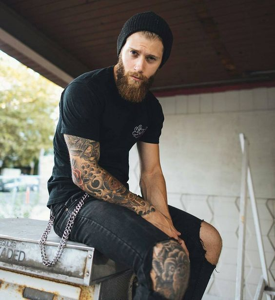 Fantastic Daily Dose Of Bearded Men With Tattoos From Beardoholic Com Natural Hairstyles Runnerswayorg