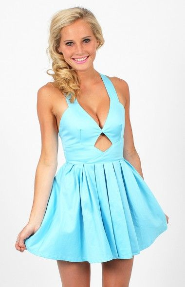blue Bow Back dress