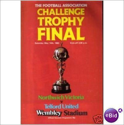Northwich Victoria v Telford Utd 14/05/1983 FA Trophy Final Football Programme