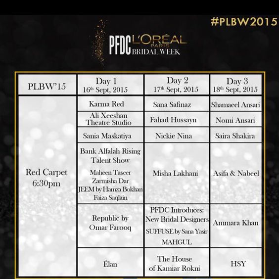 Superb line up for Fashion Week. Very excited to be working with everyone. Wishing all designers the very best! #hsy #team #friends #designers #pfdc #united #loreal