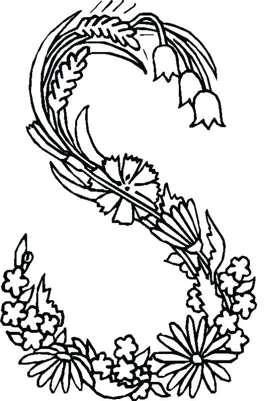 Illuminated Manuscript Coloring Pages Illuminated Letters Coloring