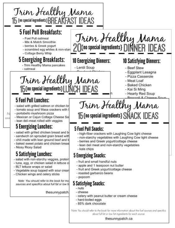 Bewitching image pertaining to trim healthy mama printable food list