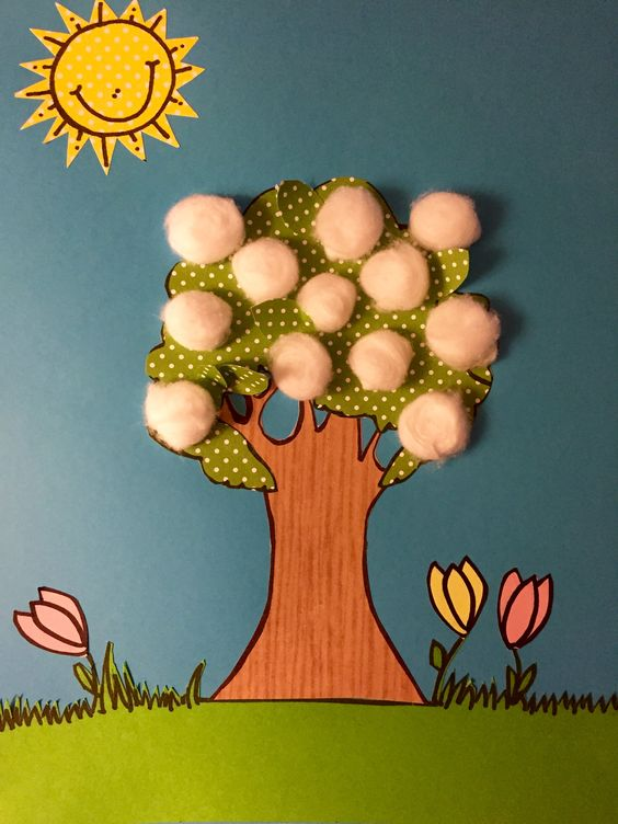 "Today's craft for Sunbeams Class (Sunday Schoolers age 3). Lesson 10:  I Am Thankful For Trees, Plants, and Flowers. Part of the lesson incorporates the Primary song ""Popcorn Popping"", so we made our own Apricot trees while singing our little hearts out!:"