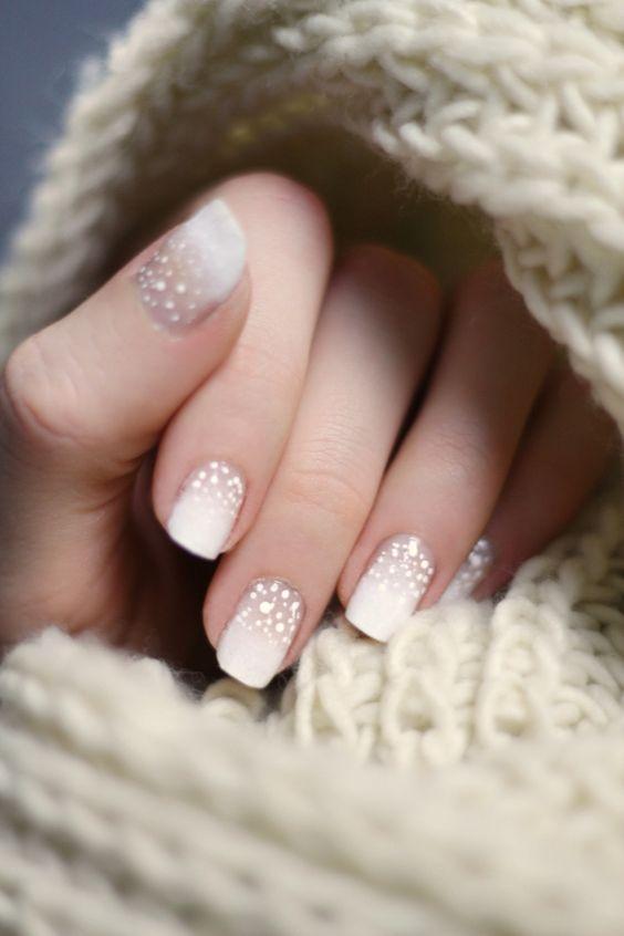 snow nails winter chistmas nailart: