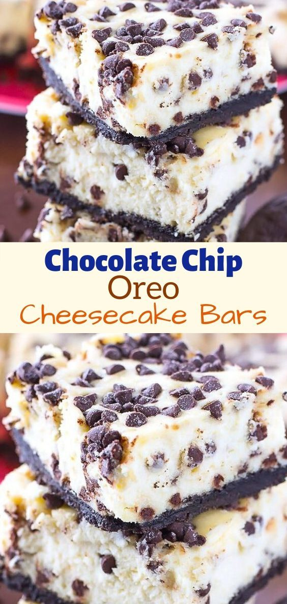 Chocolate Chip Oreo Cheesecake Bars Condensed Milk Recipes Desserts Oreo Cheesecake Bars