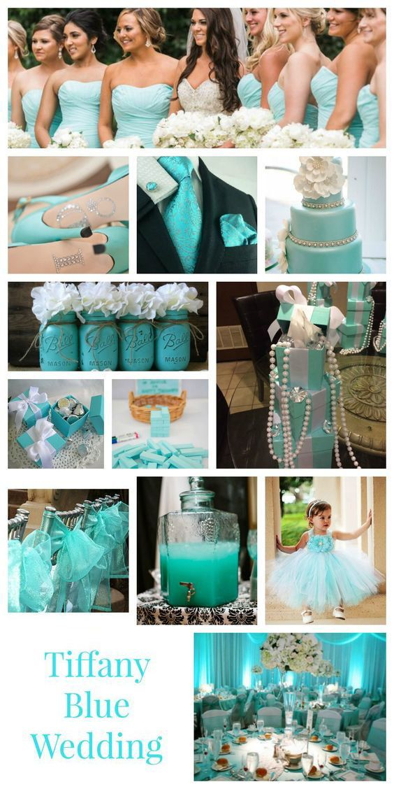 Top 9 Spring Summer Wedding Color Palettes Tiffany Blue Beach Weddings With Soft Hued Tiffany Blue Wedding Theme Blue Themed Wedding Tiffany Blue Wedding