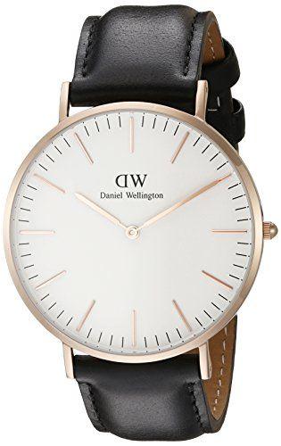Daniel Wellington Herren-Armbanduhr XL Sheffield Analog Quarz Leder 0107DW (roségold plattiertes Edelstahlgehäuse) - http://uhr.haus/daniel-wellington/daniel-wellington-herren-armbanduhr-analog-one