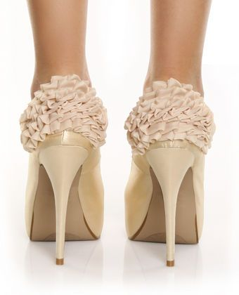 ruffle shoes~OMGAAAA these would be so Perfect for your Wedding@Devin Neil!! If we chop the heals off ;0
