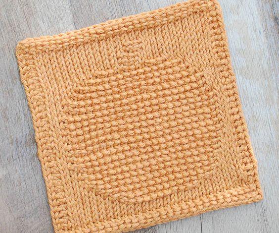 Pumpkin Tunisian Crochet Dishcloth Pattern Sentimientos Crochet