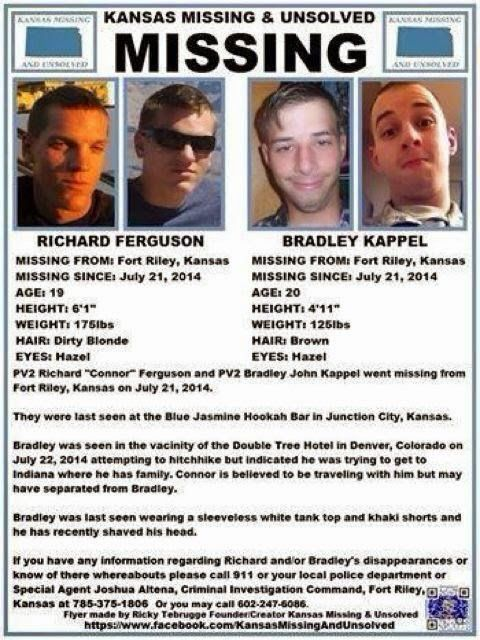 Missing Persons of America: Richard Ferguson and Bradley Kappel:  Missing from... http://www.missingpersonsofamerica.com/2014/08/richard-ferguson-and-bradley-kappel.html?utm_source=bp_recent&utm-medium=gadget&utm_campaign=bp_recent if you can't read the picture