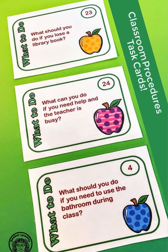 Get your students familiar with your classroom procedures with these task cards! Pick and choose the ones that work for you. Great for discussion or writing.