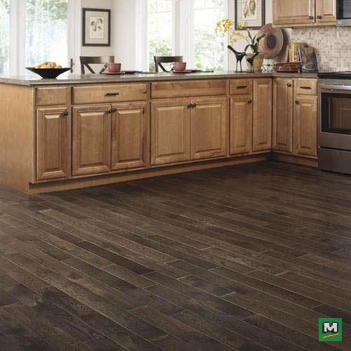 Go With This Traditional Solid Oak Wood Flooring With Granite