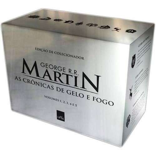 Foto 1 Cronicas De Gelo E Fogo As Box Prata 5 Volumes