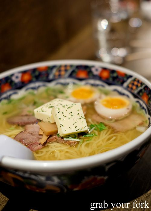 [Japanese] shio ramen with soft boiled egg and butter