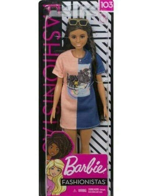 Barbie Fashionistas #90 Rainbow Sparkle African American Doll Mattel Brand New