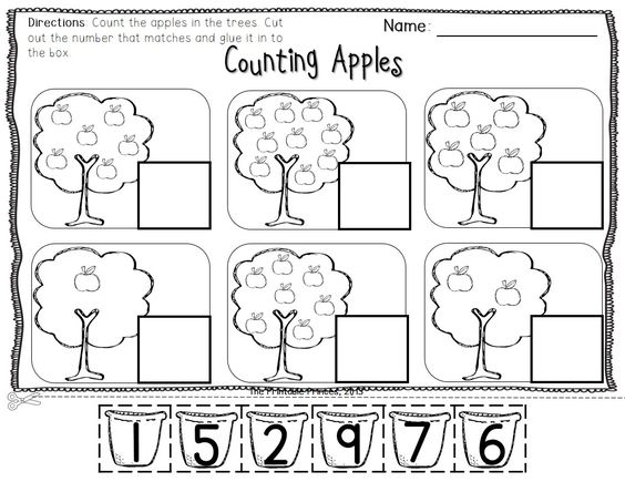 Apple Centers for Kindergarten {Fall theme} | Journal pages ...
