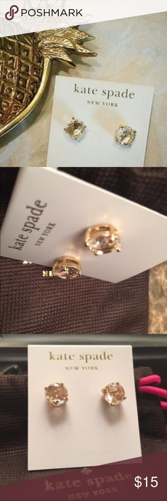 Kate Spade Gum Drop Earrings Authentic Kate Spade Gum Drop earrings in champagne color 💕 kate spade Jewelry Earrings