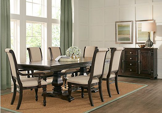 Picture Of San Luis Oak 7 Pc Rectangle Dining Room From Dining Room Sets Furniture Dining Room Sets Dining Table Dimensions Rectangle Dining Table