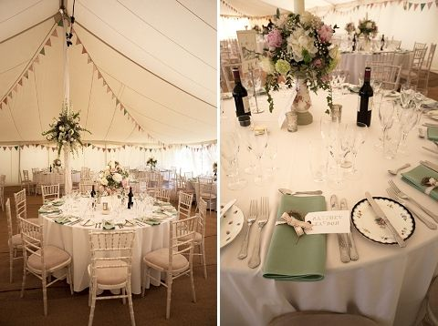 Real Wedding A Pink Sage Marquee Celebration Henrietta Matt And Weddings
