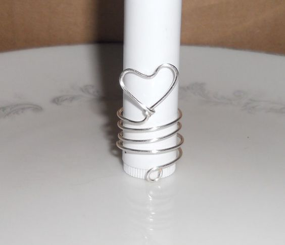 HEART RING Sz 6-7  - *Silver Wire Ring - *Wire Wrapped Ring - *Multi Wrap Ring - *Novelty Ring - *Wire Jewelry - *Love Ring - *Wireworking