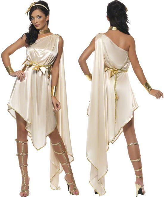 Ladies Fever Roman Greek Goddess Toga Fancy Dress Costume