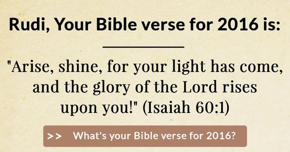 What's your Bible verse for 2016?