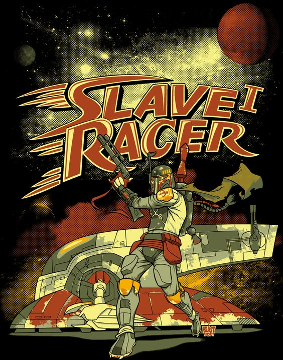 Slave I Racer - Speed Racer / Star Wars mash-up: