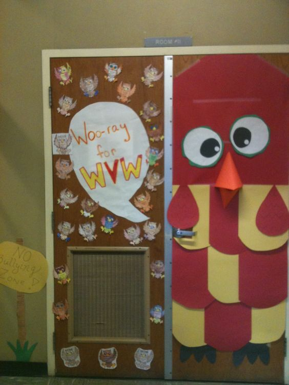 Spirit week door decoration